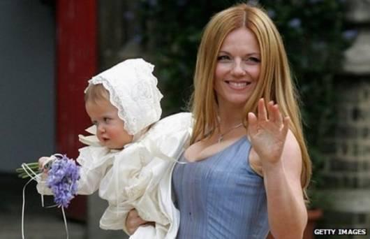 Geri Halliwell e sua filha