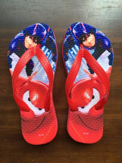sandálias personalizadas para festa big hero