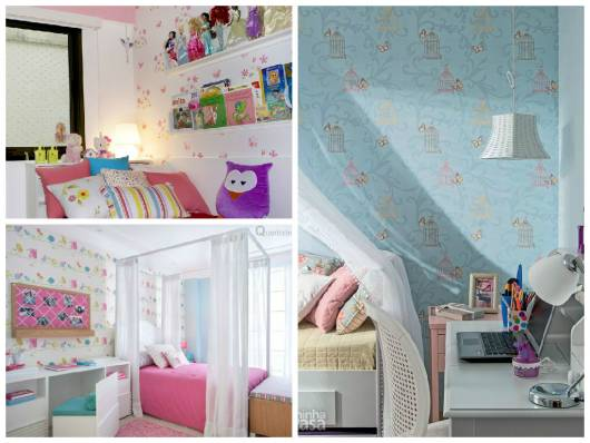 dicas de papel de parede quarto menina pequena