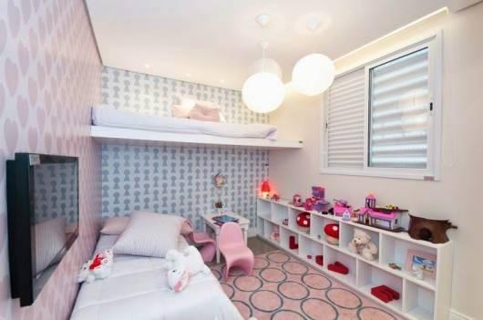 papel de parede diferente quarto menina
