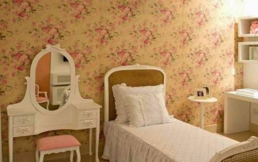 papel de parede provençal quarto menina