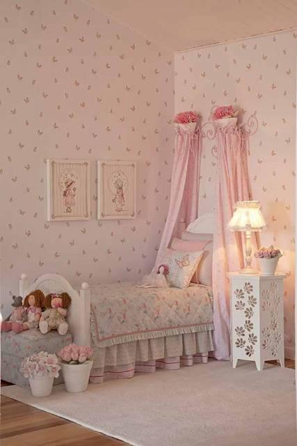 papel de parede borboleta quarto menina