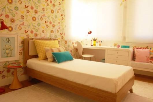 papel de parede colorido quarto menina