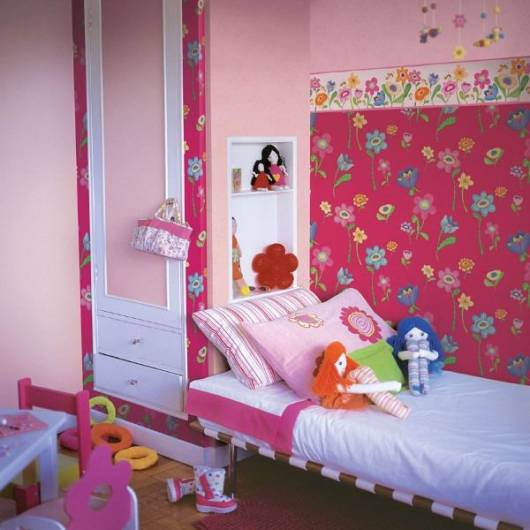 papel de parede pink quarto menina