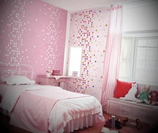 mix papel de parede quarto menina