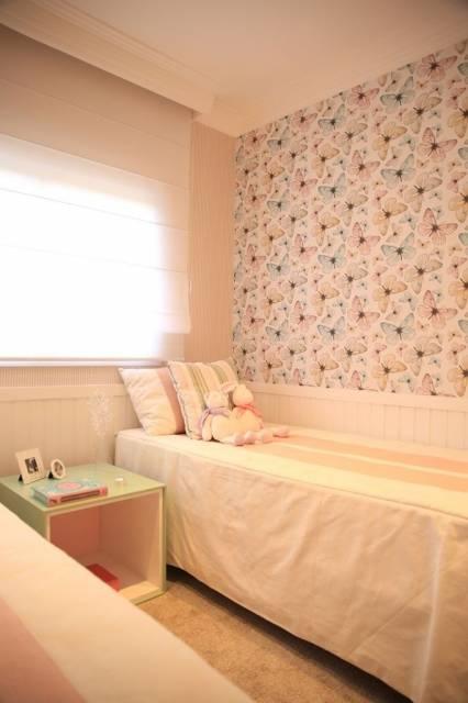 papel de parede borboleta quarto feminino infantil