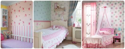ideias papel de parede quarto menina