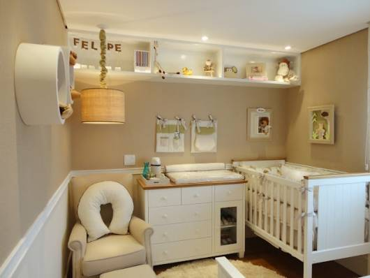 decoração bege quarto bebê safári