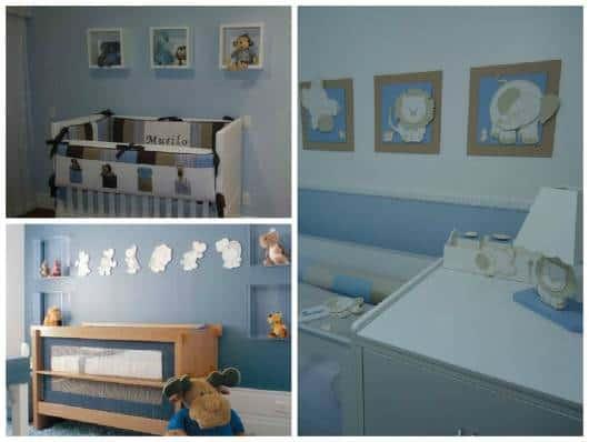 ideias de quarto de bebê azul
