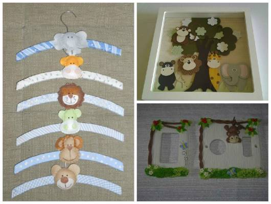 Enfeite Para Quarto De Bebe Safari ~ Enfeites para quarto de beb? com decora??o Safari