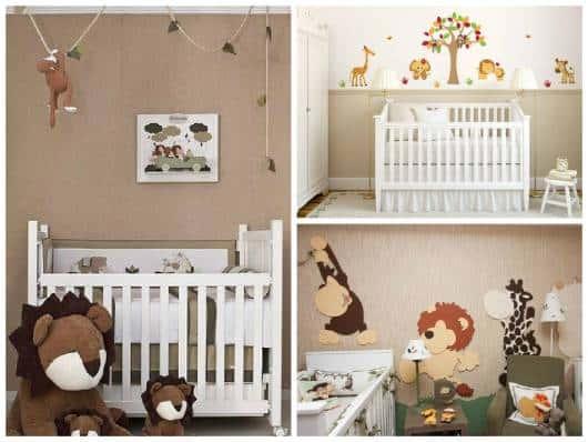 ideias para decorar quarto safári de bebê
