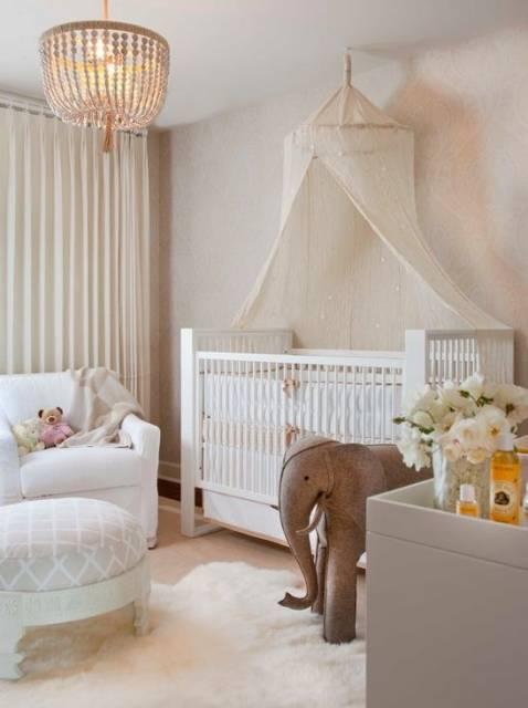 decoração clean quarto bebê menina