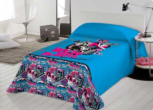 colcha azul quarto de menina