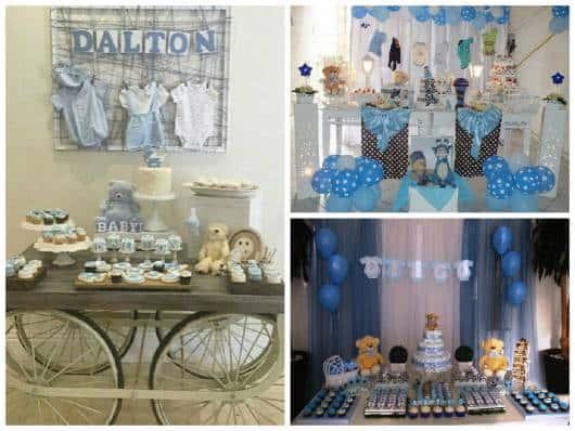 ideias de decoração com varal roupa bebê