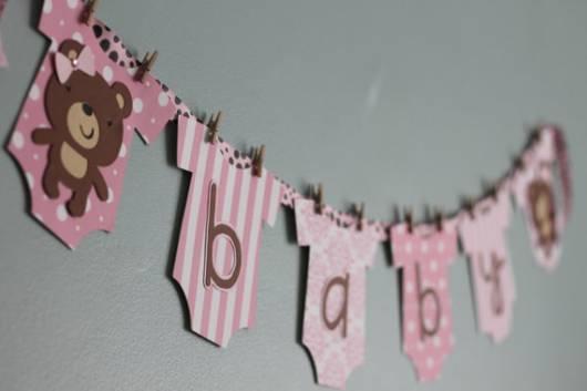 bandeirola para cha de bebe