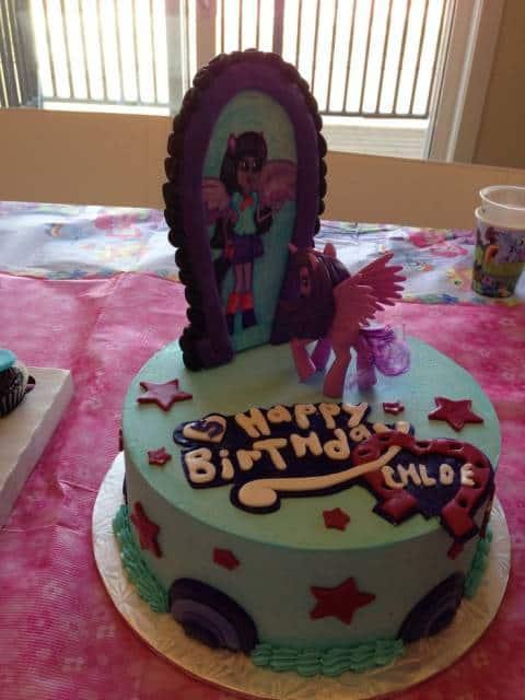 modelo de bolo equestria girls