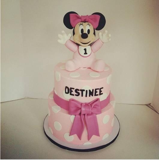 bolo decorado festa minnie baby