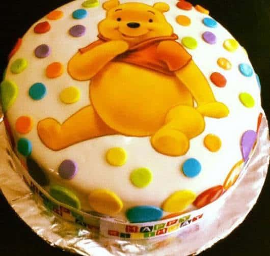 dica de bolo para festa do ursinho pooh