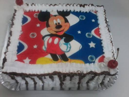 bolo com chocolate papel de arroz
