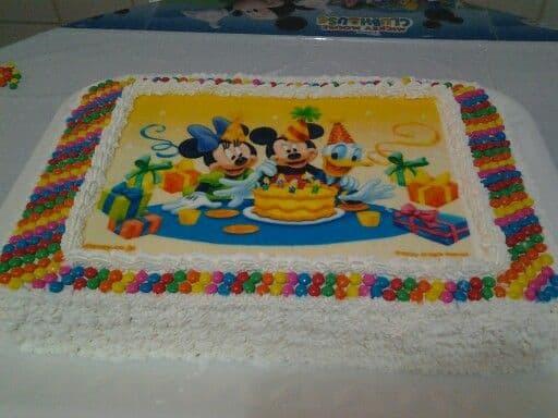 decoração bolo papel de arroz colorido