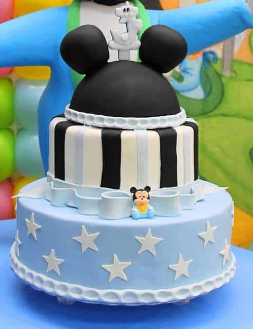 bolo mentira azul e preto