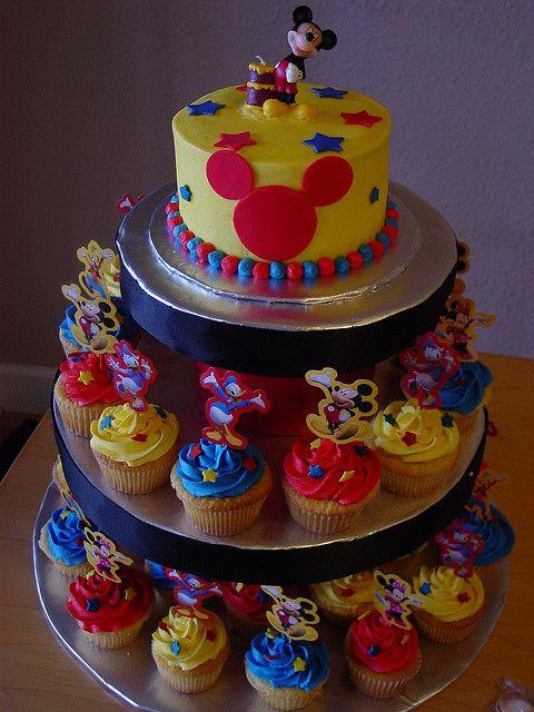 bolo cupcakes disney