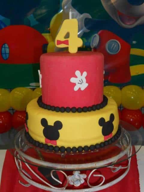 decoração de bolo mickey