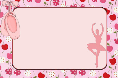 convite chá de bebê do tema bailarina