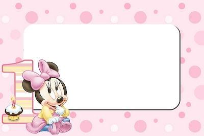convite minnie baby rosaa