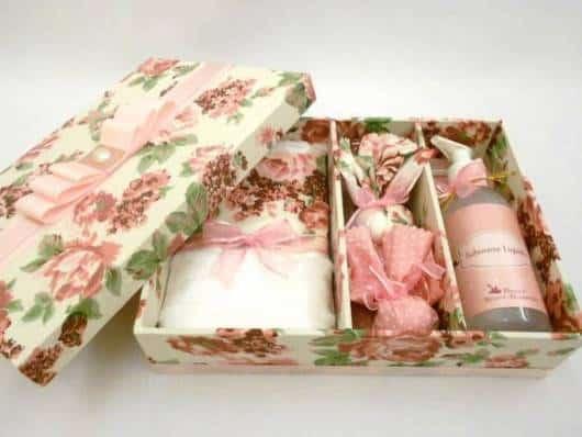 caixa floral convite