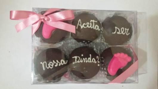 chocolate simples mensagem madrinha