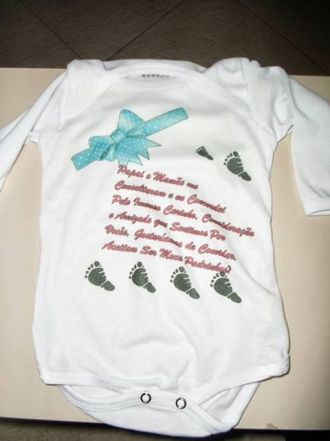 body bebê convite batismo