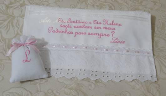 toalha personalizada batizado