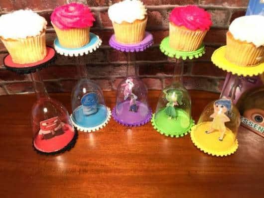 dicas de cupcake para festa divertida mente