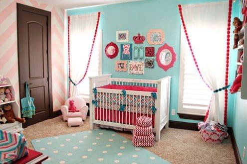 quarto bebê menina rosa e azul