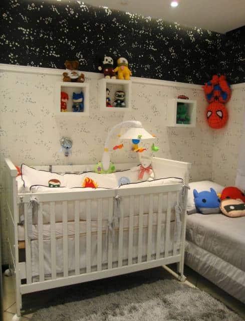quarto bebê super heróis