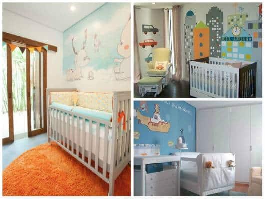 parede pintada quarto bebê