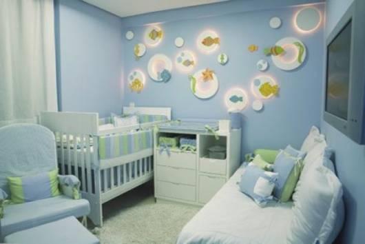decoração fundo do mar quarto