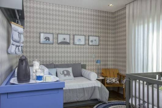 papel parede moderno quarto de bebê