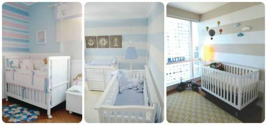 DECORAÇÃO DE QUARTO DE BEBÊ 70 Dicas e Fotos! ~ Quarto Pequeno Para Bebe E Irmao
