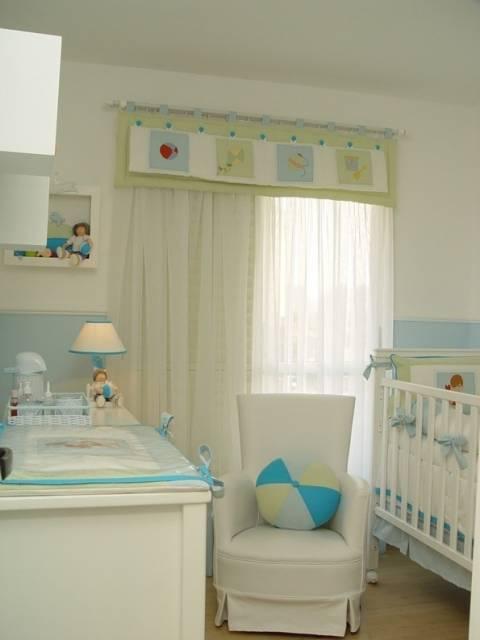 DECORAÇÃO DE QUARTO DE BEBÊ 70 Dicas e Fotos! ~ Quarto Verde E Azul De Bebe