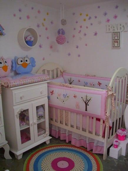 decoracao de jardim para quarto de bebe:decor de corujinhas é linda para garotas e pode ser encontrada em
