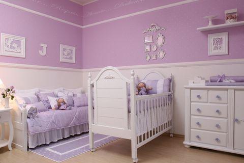 quarto lilás de bebê