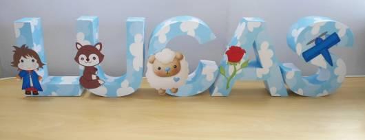 letras decorativas pequeno príncipe