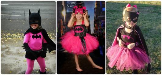 fantasia rosa batman menina