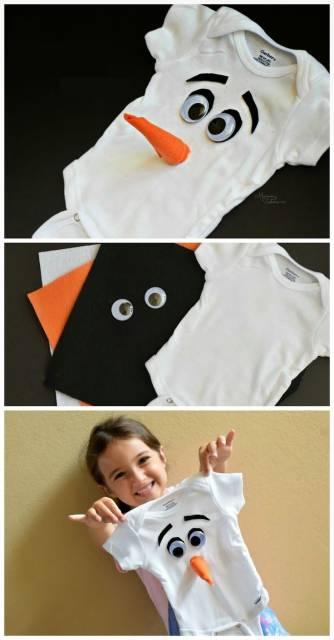 fantasia improvisada bebê