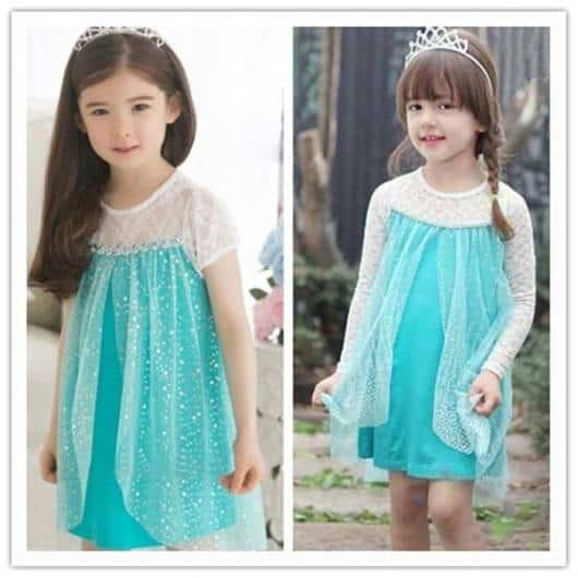 vestido simples elsa