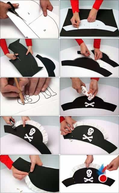 como fazer chapeu pirata