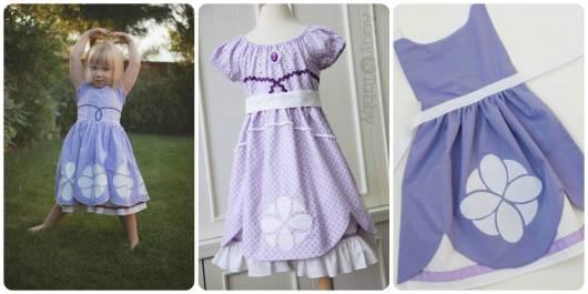modelos vestido simples princesa sofia