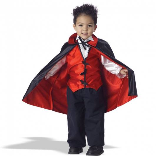 capa vampiro vermelho e preta